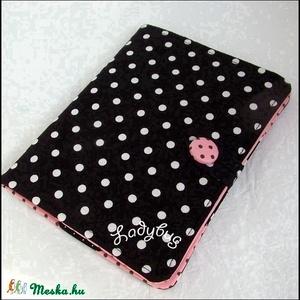 Kindle  tok - Fekete-rózsaszín pöttyös  (ladybug67) - Meska.hu