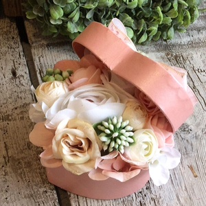 Szív virágbox mini, Otthon & Lakás, Dekoráció, Csokor & Virágdísz, Virágkötés, 10cm, Meska