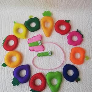 Gyümölcsfűzögető kicsiknek! , Játék & Gyerek, 3 éves kor alattiaknak, Készségfejlesztő, Varrás, Gyümölcsfűzögető játék 1-3 éves gyerekeknek, mely fejleszti a kézügyességet!\n12 db barkácsfilcből ké..., Meska
