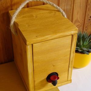 """Bag-in-Box Díszdoboz - \""""fehér\"""" 3 literes, Otthon & Lakás, Konyhafelszerelés, Bortartó, Famegmunkálás, Fehérborokhoz - Bag in box díszdoboz – 3 literes\n\nFogyaszd kedvenc fehérborod vagy gyümölcsleved stí..., Meska"""