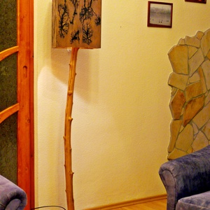 Különleges állólámpa, Otthon & lakás, Lakberendezés, Lámpa, Állólámpa, Famegmunkálás, Kedves Érdeklődő!\nA képen látható állólámpa búrája rétegelt lemezből készült, és hazánkban még kevés..., Meska