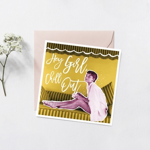AUDREY vintage képeslap, Naptár, képeslap, album, Otthon & lakás, Képeslap, levélpapír, Képzőművészet, Illusztráció, Fotó, grafika, rajz, illusztráció, Vintage stílúsu csajos képeslap, egyedi grafikával. Ajándéknak, kis meglepésnek tökéletes. Audrey He..., Meska