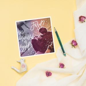 RADNÓTI vintage képeslap, Képeslap & Levélpapír, Papír írószer, Otthon & Lakás, Fotó, grafika, rajz, illusztráció, Vintage stílúsu csajos képeslap, egyedi grafikával. Ajándéknak, kis meglepésnek tökéletes. Radnóti M..., Meska