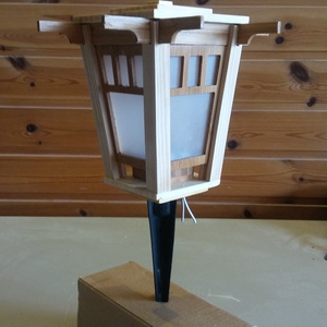 """China mini leszúrható/lecsavarozható kerti lámpa, Állólámpa, Lámpa, Otthon & Lakás, Famegmunkálás, \""""China mini  \"""" LED kerti leszúrható/lecsavarozható lámpa bambuszból 8500Ft\n\nSaját tervezésű és 100%b..., Meska"""