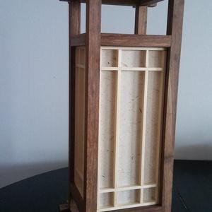 """Bambusz asztali japán Shoji lámpa, Lakberendezés, Otthon & lakás, Lámpa, Asztali lámpa, Hangulatlámpa, Famegmunkálás, Papírművészet, Saját tervezésű és gyártású japán \""""Shoji\""""lámpa\n\n\nA többi általam gyártott egyedi lámpához hasonlóan,..., Meska"""