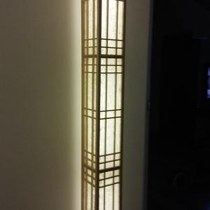 """Fali shoji lámpa, Fali & Mennyezeti lámpa, Lámpa, Otthon & Lakás, Famegmunkálás,  Saját tervezésű és gyártású japán \""""Shoji\""""lámpa\n\n\nA többi általam gyártott egyedi lámpához hasonlóan..., Meska"""