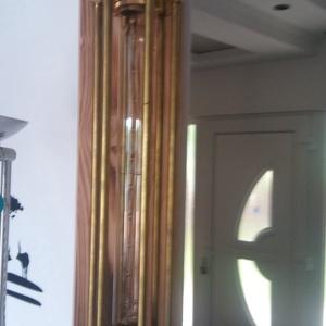 Loft, ipari retró, steam punk fali lámpa  sárgarézből, Otthon & lakás, Lakberendezés, Lámpa, Fali-, mennyezeti lámpa, Famegmunkálás, Fémmegmunkálás, \nA többi általam gyártott egyedi lámpához hasonlóan, ez az ipari retró fali lámpa  teljes egészében ..., Meska