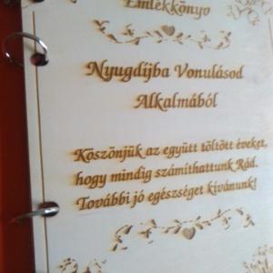Emlékmentő-Nyugdíjba Vonulásra (LaserArt) - Meska.hu