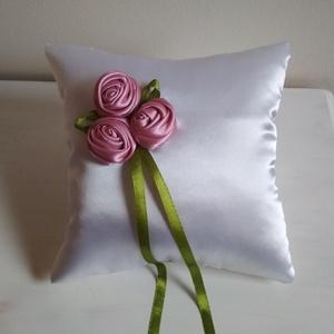 Primavera - romantikus rózsás gyűrűpárna - Meska.hu