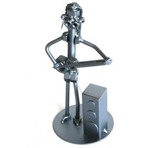 Gitáros férfi / hölgy, Fém, Szobor, Művészet, Fémmegmunkálás, Kovácsoltvas, A szoborra kérhető gravírozás is felár ellenében!\nFérfi vagy női figura rendelhető!\n\n\nMagasság: 190 ..., Meska