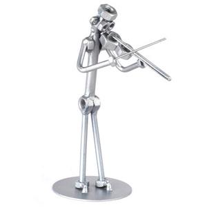 Hegedűművész úr / hölgy, Művészet, Hangszer & Hangszertok, Fémmegmunkálás, Kovácsoltvas, A szoborra kérhető gravírozás is felár ellenében!\nFérfi vagy női figura rendelhető!\n\n\nMéretek:\nMagas..., Meska