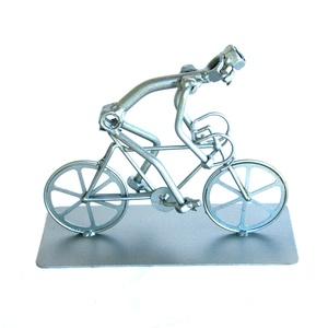 Versenykerékpáros ajándék férfinek - nőnek, Otthon & Lakás, Dekoráció, Fémmegmunkálás, Meska