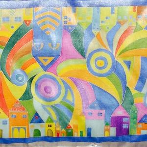 Hundertwasser ihletésű selyemsál (LauAni) - Meska.hu