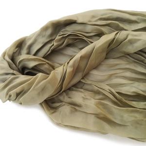 oliva pasztell selyemsál STÓLA méretben - ruha & divat - sál, sapka, kendő - stóla - Meska.hu