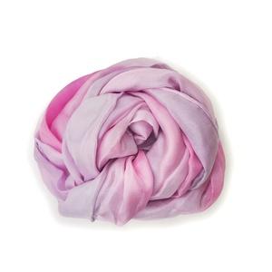 rózsa- lila  selyemsál , Ruha & Divat, Sál, Sapka, Kendő, Sál, Selyemfestés, Különleges páros lila és rózsaszín közreműködésével...\nValódi tiszta-selyem sál, kb. 40x150 cm.\n\nNag..., Meska