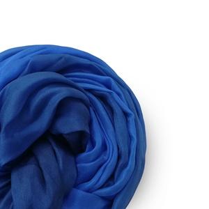 kék és kék  selyemsál STÓLA méretben - Meska.hu