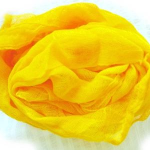 """""""nagyon!sárga""""   géz-sál, Ruha & Divat, Sál, Sál, Sapka, Kendő, Nagyon intenzív!! erős sárga, igazi színbomba.. Méret: kb 90x170cm.. Tiszta pamutgéz, természetesen ..., Meska"""
