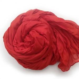 PIROS selyemsál STÓLA méretben 90x180!!, Táska, Divat & Szépség, Női ruha, Ruha, divat, Selyemfestés, Klasszikus, örök kedvenc; telt színét többszöri festésnek köszönheti..Tisztaselyem, mérete: kb 90x18..., Meska