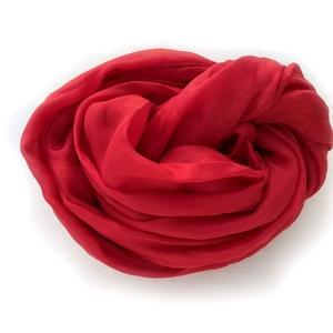 piros selyemsál , Táska, Divat & Szépség, Női ruha, Ruha, divat, Selyemfestés, Üde, élénk - és örök klasszikus:-)\ntelt színét többszöri festésnek köszönheti..Tisztaselyem, mérete:..., Meska