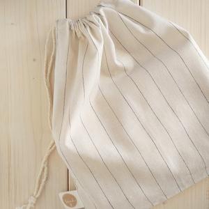 Lenvászon zsák fehér színben, 22x30 cm, NoWaste, Bevásárló zsákok, zacskók , Textilek, Textil tároló, Táska, Divat & Szépség, Varrás, .fehér szín, 100 % len \n.egyik oldalán natúr szalaggal behúzható\n.mérete 30x36 cm\n.előkezelt termék\n..., Meska