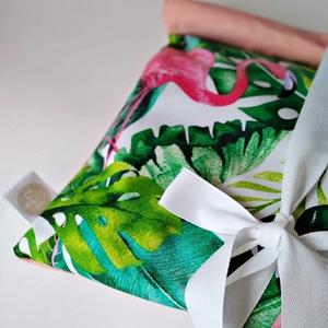 Frissentartó kenyeres zsák/ flamingó, NoWaste, Bevásárló zsákok, zacskók , Textilek, Textil tároló, Otthon & lakás, Konyhafelszerelés, Kenyértartó, Varrás, FLAMINGÓ FRISSENTARTÓ ZSÁK - legnépszerűbb zsák\n\n.flamingó (33 x 47 cm)\n\nInfók a bélésről:\n.minimum ..., Meska