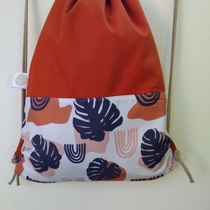 Philodendron hátizsák/ terrakotta, Táska, Divat & Szépség, Táska, Hátizsák, Varrás, PHILODENDRON HÁTIZSÁK/ TERRAKOTTA\n\n\n\nPálmaleveles textil, amely a Slow fashion jegyében készül.\n\n\n\nT..., Meska