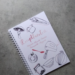 Receptfüzetem receptfüzet, Otthon & Lakás, Papír írószer, Jegyzetfüzet & Napló, Fotó, grafika, rajz, illusztráció, Festészet, RECEPTFÜZETEM\nTe is gyakran online keresel recepteket? Sosem találod meg újra, ami bevált? Gyűjtsd ö..., Meska