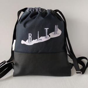 BLTN Tornazsák/ Feketelegancia, Táska & Tok, Hátizsák, Gymbag, Festészet, Varrás, Az ötletekért Dávid (BLTN-Shop) felel, a mintákat részben én (Laud) tervezem, a táskákat pedig varro..., Meska