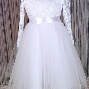 Alkalmi ruha lányoknak, Keresztelő ruha, Babaruha & Gyerekruha, Ruha & Divat, Varrás, Keresztelőre, esküvőre, vagy csak egy családi eseményre tökéletes viselet ez a kisruha. Felső része ..., Meska