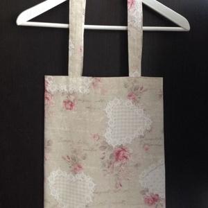 Romantikus, rózsás táska, szatyor - Meska.hu