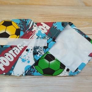 Szendvics csomagoló szalvéta: tartós, vízhatlan, nowaste, színes foci mintás (Lavenderhome) - Meska.hu