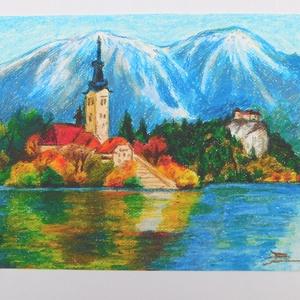 Bledi-tó - olajpasztell kép (LaVoi) - Meska.hu