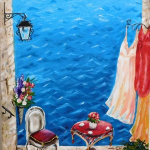 Rovinj - akril festmény, Képzőművészet, Otthon & lakás, Festmény, Lakberendezés, Falikép, Dekoráció, Kép, Akril, Festészet, 30x40 cm méretű feszített vászonra készült akril festmény. Keretezést nem igényel, azonnal a falra h..., Meska