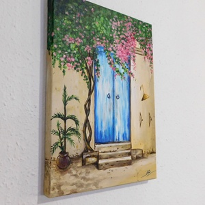 AKCIÓ! Mediterrán ajtó - akril festmény (LaVoi) - Meska.hu