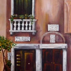 Mediterrán kapualj - akril festmény, Akril, Festmény, Művészet, Festészet, 30x40 cm méretű feszített vászonra készült akril festmény. Keretezést nem igényel, azonnal a falra h..., Meska