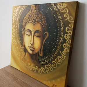 Arany Buddha - akril festmény - Meska.hu
