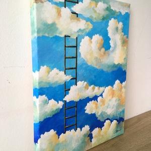 Felhők felett - akril festmény - Meska.hu