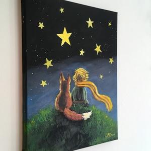 A kis herceg - akril festmény - Meska.hu