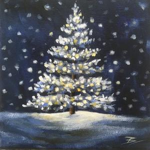 Karácsonyfa - akril festmény - Meska.hu