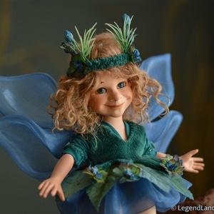 MURIEL tengeri tündér nosztalgia porcelánbaba, porcelán baba, Otthon & lakás, Dekoráció, Dísz, Esküvő, Nászajándék, Baba-és bábkészítés, Kerámia, 20 cm magas porcelán testű figura.\n Szórakoztató dekoráció, különböző pózokba állítható (mozgatható ..., Meska