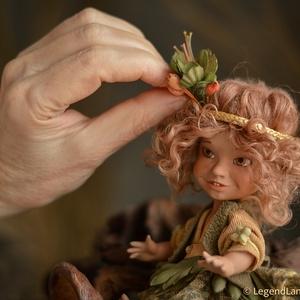 Afrikai néger babát ábrázoló figura, GALINA apró porcelán BJD (LegendLand) - Meska.hu