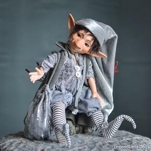 Ezüst díszítésű nagy kobold figura, JOACHIM porcelán BJD  fiú baba (LegendLand) - Meska.hu
