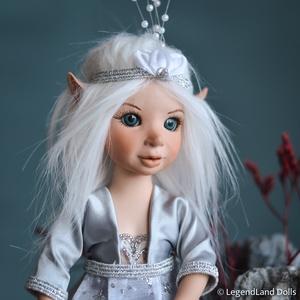 Ezüstös elf lány figura HELMI porcelán BJD baba (LegendLand) - Meska.hu