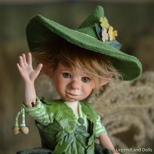 Kertész manó fiú figura MARTIN porcelán BJD baba (LegendLand) - Meska.hu