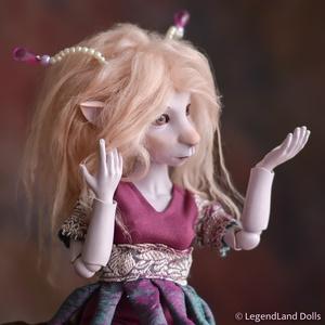 BJD baba, zenész faun porcelán figura MELODY fantasy porcelánbaba, Művészet, Szobor, Kerámia, Baba-és bábkészítés, Kerámia, MELODY - zenész faun\n\n30 cm magas porcelán testű figura, mozgatható fülekkel és lyra hangszerrel.\nSz..., Meska