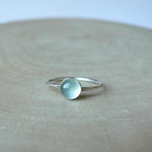 Ezüst Prehnit gyűrű (Lennyhandmade) - Meska.hu