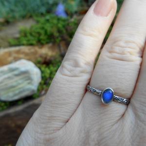Ezüst Labradorit gyűrű (Lennyhandmade) - Meska.hu