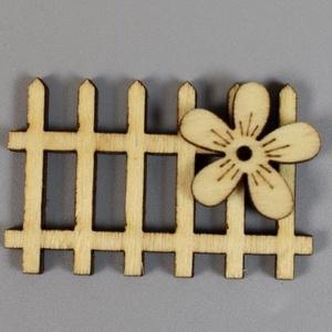 Manó - tündér kerítés,több fajta natúr színben 6db/cs - SOK FAJTA MANÓ TERMÉKEM VAN !!!!!., Dekorációs kellékek, Figurák, Famegmunkálás, Manó - tündér modell  virágos kerítés - 4cmx2,5cm - natúr színben 6db/cs\n\nSzemélyes átvételre a 6.ke..., Meska