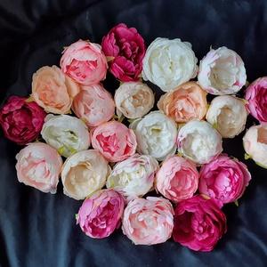 Peónia, peony, Bazsarózsa fejvirág 9cm több színben 10db/cs., Dekorációs kellékek, Egyéb kellékek, Virágkötészet, Mindenmás, Decoupage, szalvétatechnika, Peónia, peony, Bazsarózsa fejvirág 9cm több színben 10db/cs. - vegyes színekben\nTermékeim közt talál..., Meska