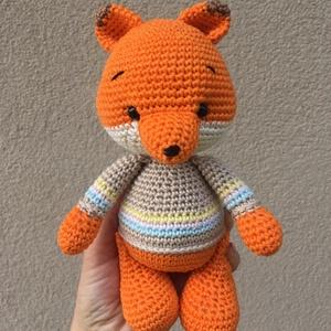 Jupiter a róka, Játék & Gyerek, 3 éves kor alattiaknak, Horgolás, 100% pamutfonalból készült, biztonsági szemekkel ellátott, baba barát horgolt róka.\nSzilikongolyóval..., Meska